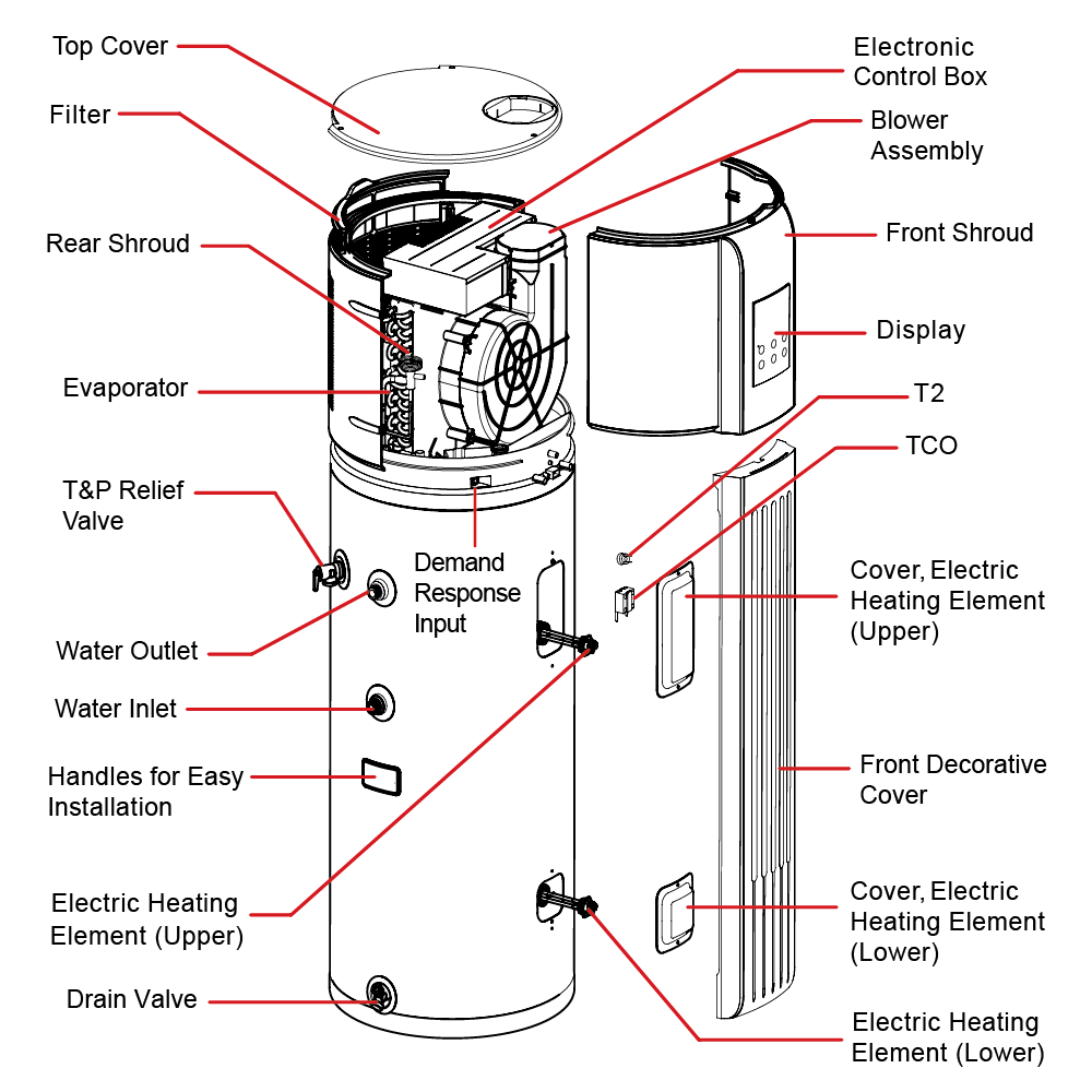 Heat Pump Water Heater Wiring Diagram Diagram Carling
